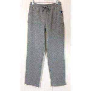 Karen Scott Sport NWT Casual Pants Small Gray Knit